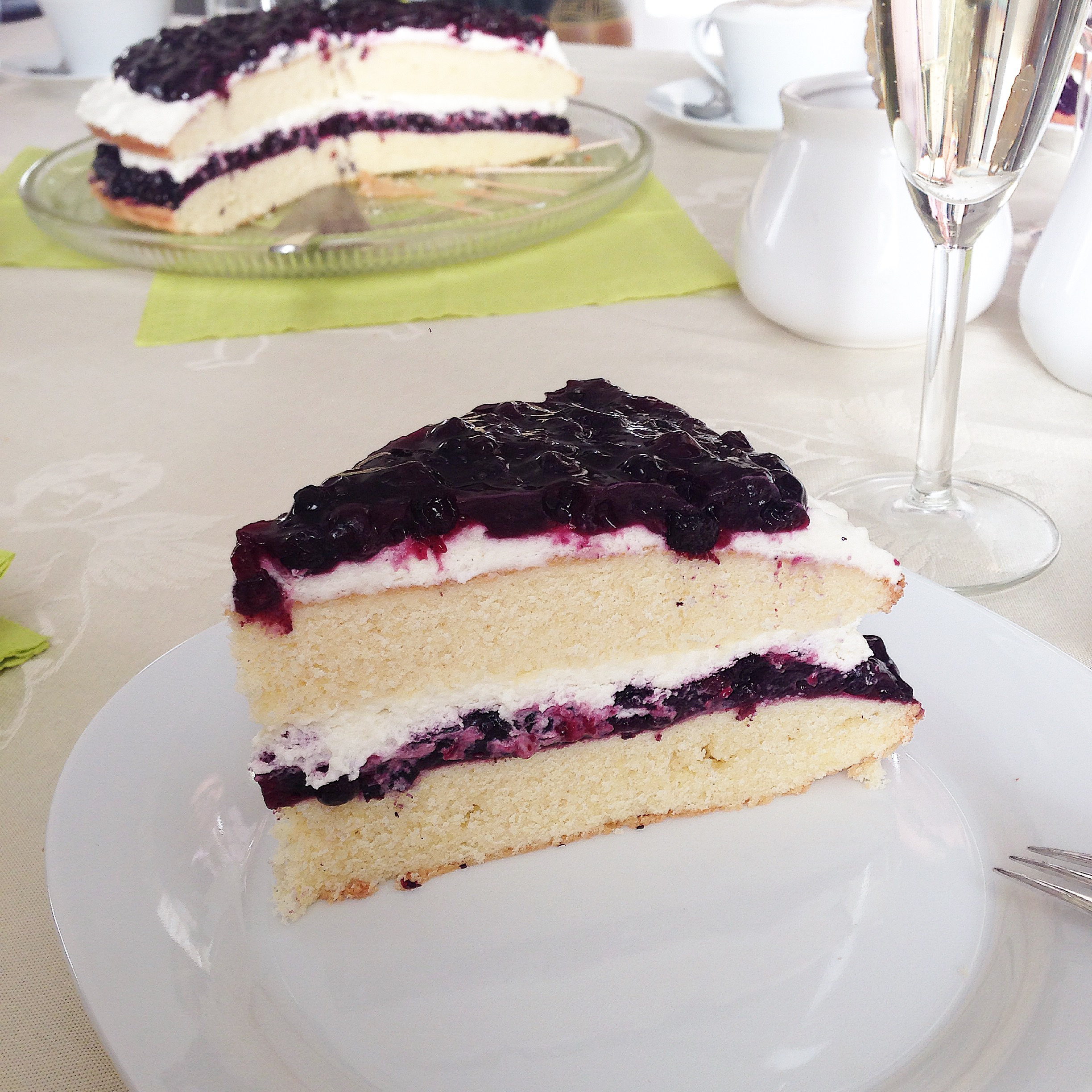 Blueberry Cream Cake | Food And Travel